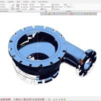 اسکن سه بعدی  و مدلسازی قطعه جداکننده معدن روی